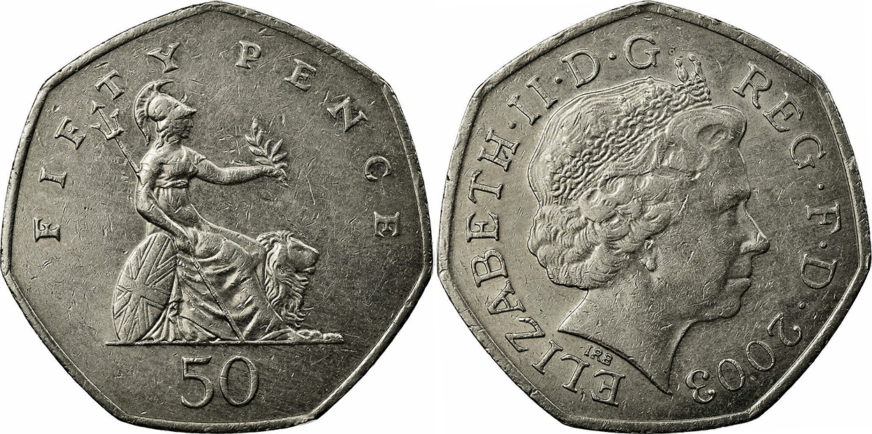 50 pence coins