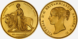 Una and the Lion - 5 pounds 1839